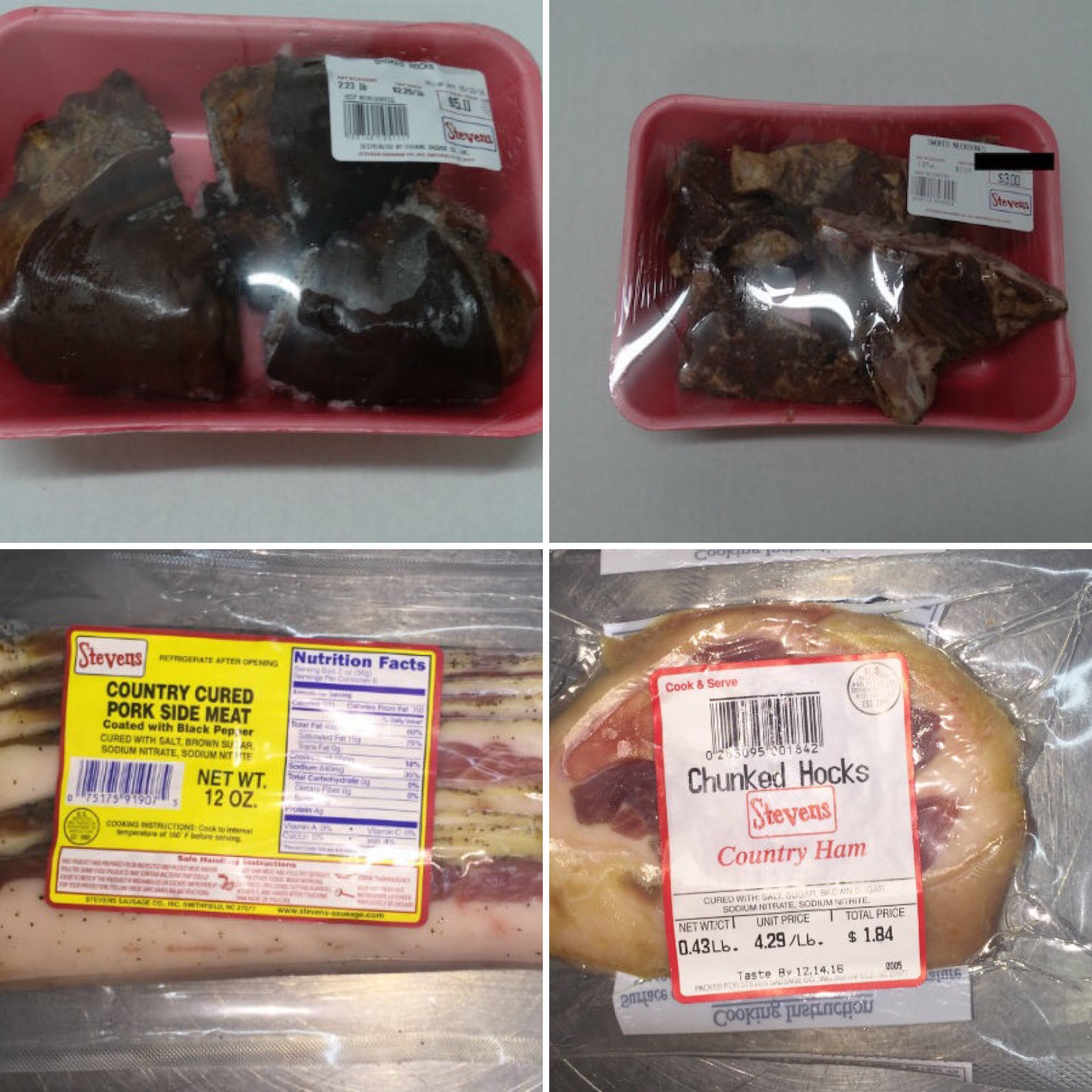 ham hocks and side meat