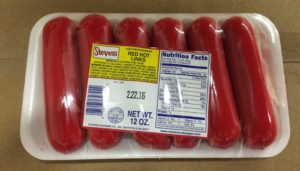 red hots mini hot dogs