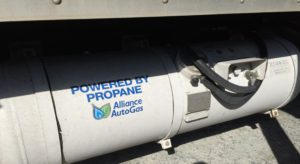 propane fueled fleet of trucks
