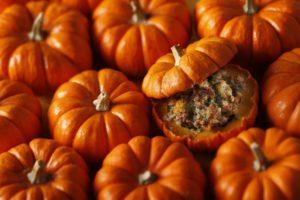 stuffed sausage baked pumpkins